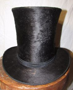 Early TOP HAT With Wallpaper BOX Levan Faust Penn | eBay
