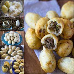 Iraqi Rice & Potato Balls Balls (Kubbat, Arancini)