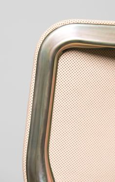 "CHASSIS for Wilkhahn by Stefan Diez in its post-production version for SCHELLMANN FURNITURE: perforated leather seat and chromatized frame Prototype ""SF_CH_GL_000""  www.stefan-diez.com Quittenbaum Kunstauktionen 