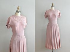 vintage 1940s Hush Hush crepe dress