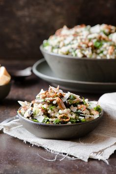 Mushroom & Barley Salad - Bright flavours of lemon & herb, mixed with...