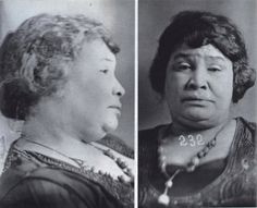New Orleans police mugshots of Lulu White, famous Storyville Madame, entertainer, and entrepreneur, 1920.