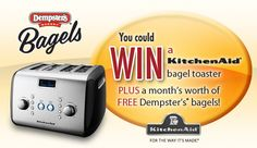 Tweet to WIN 1 of 5 prize $200 prize packs from our friends at DEMPSTERS! To enter, follow @Dempsters on Twitter & tweet which flavour of #DempstersBagels is your fave! Don't forget the hashtag! Twitter Tweets, Cooking Timer, Bagel, Don't Forget, Coupons, Journey, Foods, Friends, Food Food