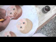 4 fases de como pintar o cabelo. (Pintura em tecido Kelly'Arts) - YouTube