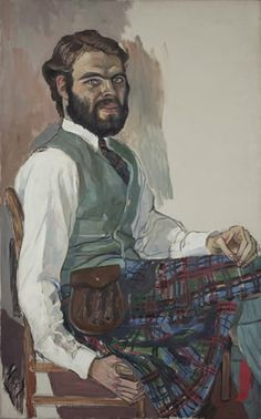 Stewart Mott, oil on canvas, 44-1/8 x 27-1/8 in., 1961, by Alice Neel