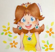 Nintendo Characters, Video Game Characters, Princesa Daisy, Super Mario Run, Nintendo Princess, Copic Drawings, Super Mario Brothers, Mario Bros, Italian Art
