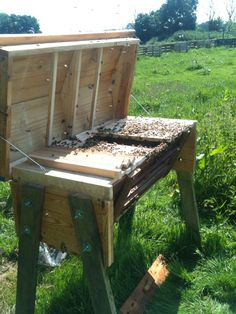 #Garden, #RecyclingWoodPallets I downloaded and printed off Building a Top Bar Pallet Beehive by Phil Chandler. I went to:http://www.biobees.com/build-a-beehive-free-plans.php It took 3 pallets and a bit of time, but it's well worth it!  About my Top Bar Pallet B