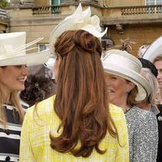 Kate Middleton with half-up, half-down hairtsyle