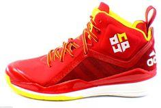 7fd4193fb Adidas Dwight D Howard 5 Basketball Shoes Size 8 Superman Houston Rockets
