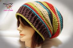 Ravelry: Inside-Out Slouch Hat Crochet Pattern pattern by April Bennett with Cuddle Me Beanies
