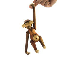 Wood Teak Monkey by Kay Bojesen for Rosendahl Denmark Small