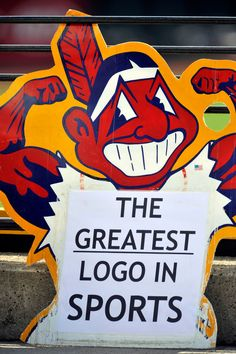 Challenge to Indians' Chief Wahoo case moves forward in Toronto - June A fan holds up a Chief Wahoo sign. Cleveland Baseball, Cleveland Indians Baseball, Baseball Park, Cleveland Ohio, Funny Baseball, Cleveland Rocks, Kentucky College Basketball, Duke Basketball, Basketball Players