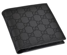 NEW GUCCI Men's Black Canvas GG Coin Pocket Bifold Wallet. Get the lowest price on NEW GUCCI Men's Black Canvas GG Coin Pocket Bifold Wallet and other fabulous designer clothing and accessories! Shop Tradesy now