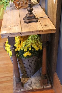 lumber & spindles = entry, sofa or hall table. could be painted - My-House-My-Home