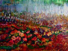 """Saatchi Art Artist: Karen Colville; Acrylic 2011 Painting """"La lavande réceptionne le jardin près de Grasse dans France du sud"""""""