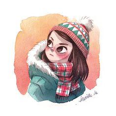 winter girl by Iraville.deviantart.com on @DeviantArt