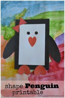 Shape Penguin Printables 2