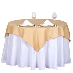 x Champagne Wholesale Seamless Polyester Square Tablecloth Overlay For Banquet Wedding Party Restaurant Banquet Tables, Reception Table, Wedding Table, Party Tables, Party Wedding, Spring Wedding, Wedding Reception, Wedding Venues, Tablecloth Sizes