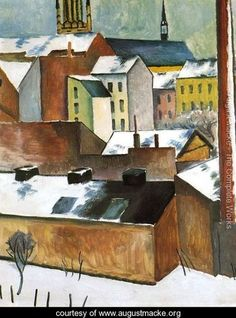 St. Mary's in the Snow (Mariekirsche im Schnee)  1911 - August Macke - www.augustmacke.org
