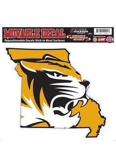 Missouri Tigers Auto Decal- Mizzou Tigers 8x8 State of Decal