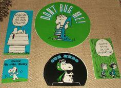 Linus w// American flag sticker Wonder Bread Peanuts 1970s VINTAGE decal