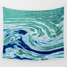 OCEAN ABSTRACT 2 Wall Tapestry