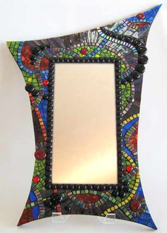 funky shaped mirror