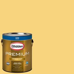Glidden Premium 1-gal. #HDGY29D Shorelight Yellow Satin Latex Exterior Paint