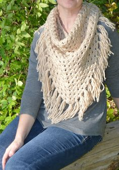 Triangle Scarf Crochet Pattern Free
