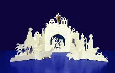 Naos Paper Nativity Scene