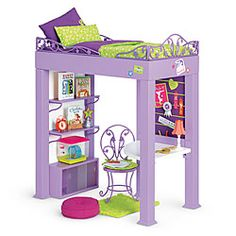 American Girl® Furniture: McKenna's Loft Bed Set    need to figure out how to make