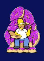 Homer - Game of Donuts, The Simpsons Simpsons Donut, Simpsons Art, Trippy Cartoon, Dope Cartoon Art, Donut Drawing, Sick Drawings, Simpsons Drawings, Simpson Wallpaper Iphone, The Simpsons