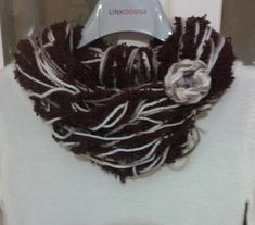 Sciarpa collana scaldacollo ad anello donna handmade scarf collana lana