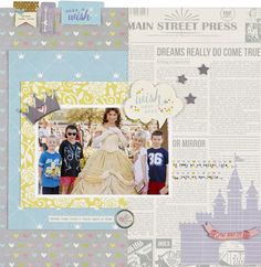 Wish Upon a Star **NEW Simple Stories** - Scrapbook.com - Made brand NEW Simple Stories Enchanted Collection. Use this Disney inspired collection to cherish all of your princess and Disney castle moments.