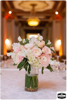 Not quite this pink....The bride will carry a round but textured bouquet of cream hydrangea, ivory garden roses, blush quicksand roses, white ranunculus, white sweet peas, ivory spray roses and silver dollar eucalyptus wrapped in ivory ribbon with the stems showing....STEMS | The Driskill Hotel | stemfloral.com | thedriskill.com | millphotostudio.com