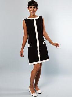 Louise MADEMOISELLE YEYE Retro 60s Mod Shift Dress | atomretro.com