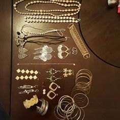 Random Jewelry Bundle There is way to much jewelry I don't wear and just collecting dust. Condition varies for all products (hint the cheap pricing). Feel free to make offers. Varies Jewelry Earrings