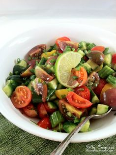 PERSIAN SALAD ~ A BRIGHT REFRESHING CHOPPED SALAD WITH A TWIST OF LIME