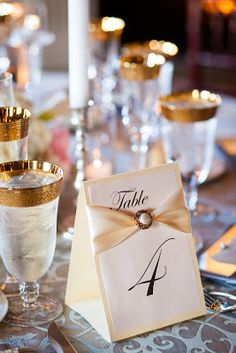 DIY elegant table numbers-maybe fill with cookies or a treat Wedding Reception Decorations Elegant, Wedding Centerpieces, Diy Wedding Table Numbers, Wedding Favors, Creation Deco, Vintage Wedding Invitations, Elegant Table, Wedding Website, Mod Wedding
