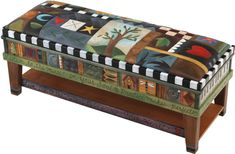hand painted piano bench/The Eclectic Collection | Sticks