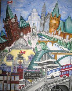 Pride of Ottawa - Lansdowne Park by Jill Alexander Vibrant Colors, Colours, Ottawa, Christmas 2019, Fine Art America, Hockey, Pride, Art Deco, Android