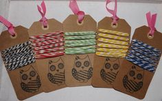 Fun bakers twine for cupcake boxes