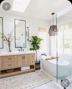 Beautiful Bathrooms, Modern Bathroom, Light Bathroom, Master Bathrooms, Serene Bathroom, Master Bath Vanity, White Bathrooms, Luxury Bathrooms, Minimalist Bathroom
