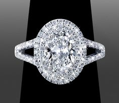 Double Halo with 1.16ct Oval Double Halo ~ *BLING* custom made by Vanessa Nicole Jewels www.VanessaNicoleEngagementRings.com