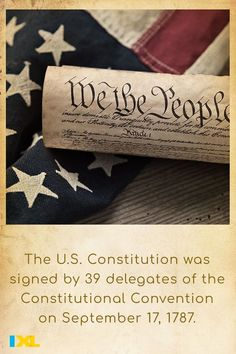 The Constitutional Convention held in 1787 in Philadelphia, PA resulted in the creation of the Constitution, the basic principles and laws of the United States. #TBT Ixl Math, Learning Sites, Philadelphia Pa, Throwback Thursday, Constitution, Social Studies, Language Arts, Montessori, Fun Facts