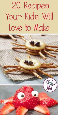 Foster a love for cooking with these fun recipes for kids! Your kids will love all these different food creations. Food art at its finest! art for kids Recipes for Kids. 20 Recipes Your Kids Will Love to Make Cooking With Toddlers, Kids Cooking Recipes, Fun Cooking, Cooking Tips, Cooking School, Fun Recipes For Kids, Kid Recipes, Children Recipes, Breakfast Cooking