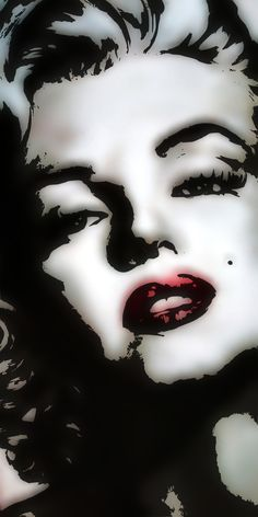 Marilyn Monroe is one of my idols. I love this piece of pop art and I believe the medium is oil .