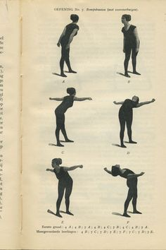 Exercise number 7. From My system for woman by J. P. M Muller, 1913