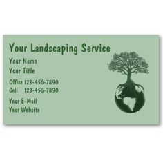 Landscaping Business Cards from http://www.zazzle.com/lawn+care+businesscards