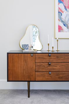 Get organized, or at least feign it. Keep all of your odds and ends stored away and out of sight with the Envelo Sideboard. Furniture Direct, High Quality Furniture, Guest Bedroom Office, Walnut Doors, Walnut Sideboard, Walnut Furniture, Eclectic Design, Living Room Inspiration, Home